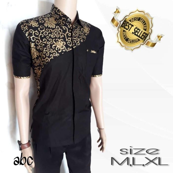 Jual Kemeja Batik Pria Batik Trendy Batik Kombinasi Polos Kekinian Murah Kota Pekalongan Batik Putra Brawijaya Tokopedia