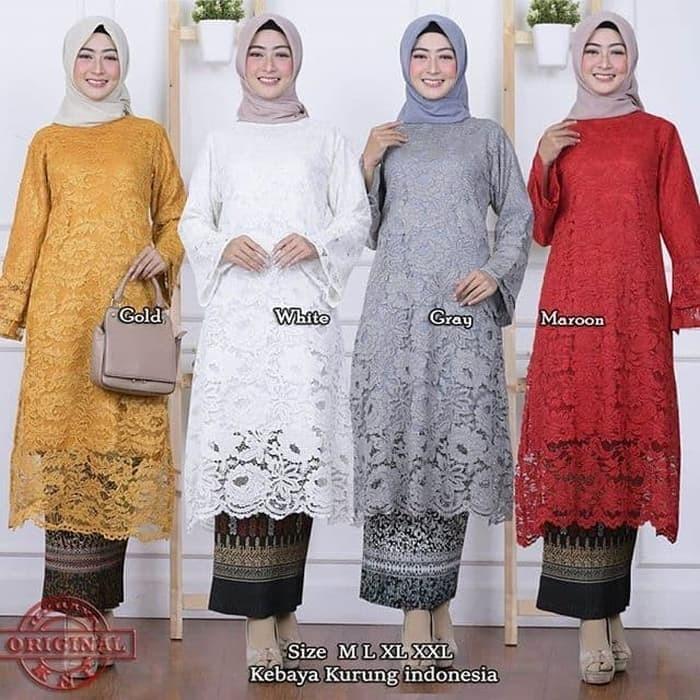 Jual Stelan Kebaya Brokat Tunik Model Baru Dki Jakarta Butik Kebaya Nusantara Tokopedia