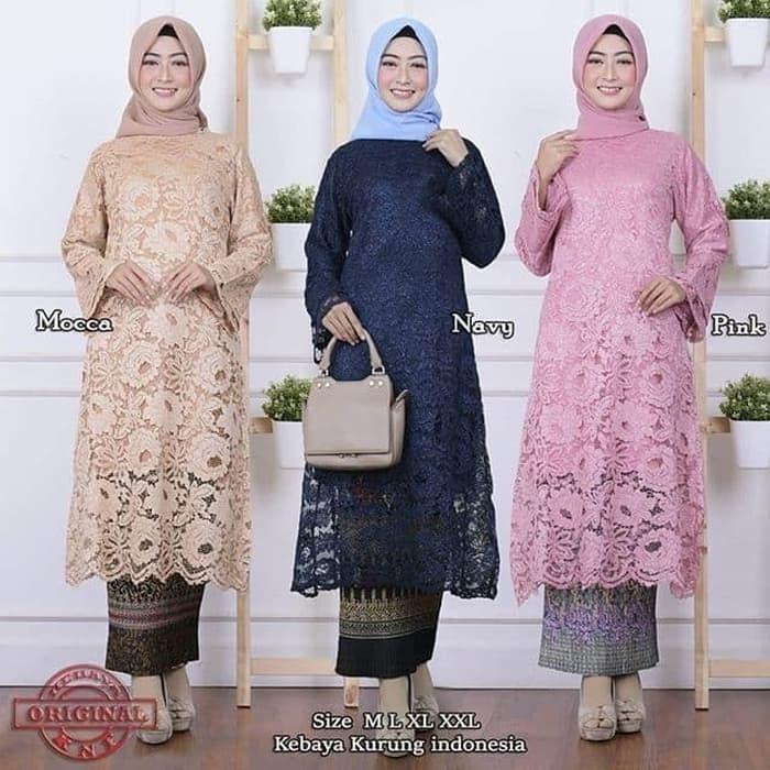 Jual Setelan Kebaya Brokat Tunik Model Baru Jakarta Pusat Butik Kebaya Nusantara Tokopedia
