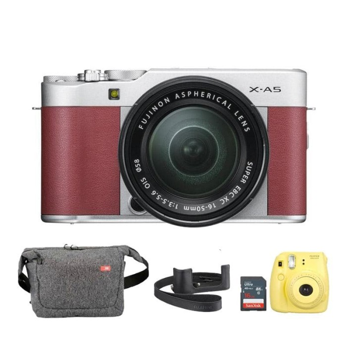 harga Fujifilm x-a5 xa5 kit lens xc 15-45mm - pink + sd 16gb Tokopedia.com
