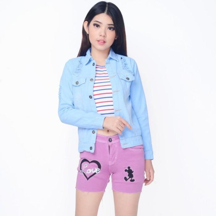 Jual Jaket Denim Jeans Wanita Korea Terbaru - Cheryl ... c61899cb81