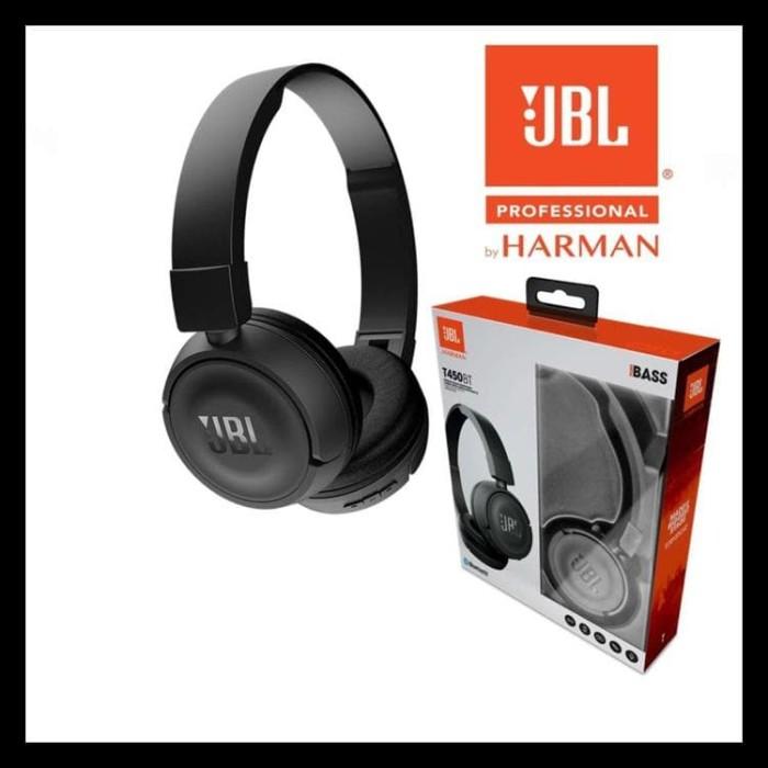 JBL ON EAR HEADPHONE T450 SUPER BASS LEGENDARY SOUND ORIGINAL HITAM