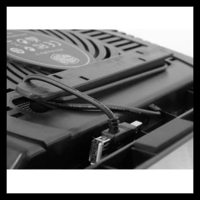 COOLING PAD / KIPAS PENDINGIN LAPTOP 2 USB N19 +1FAN BESAR - HITAM