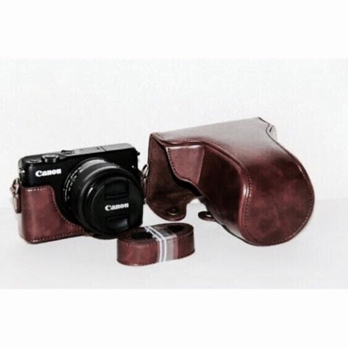 Jual Canon EOS M10 Leather Bag   Case   Tas Kulit Kamera Mirrorless ... a7ecc53dc8