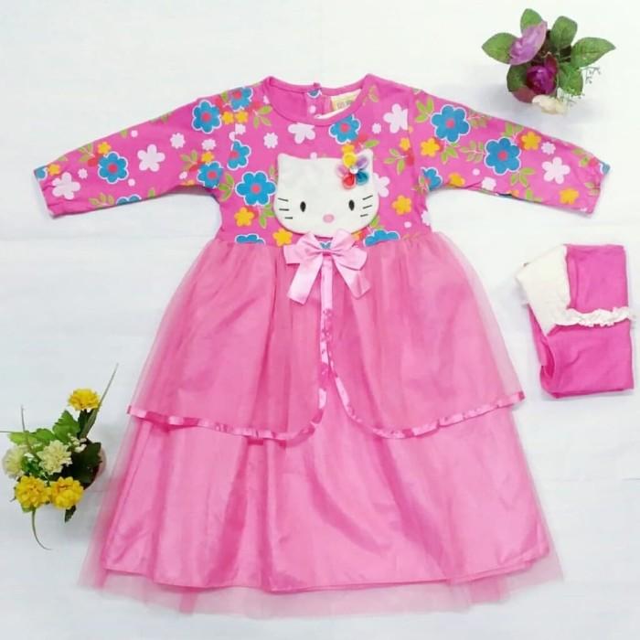 Baju Muslim Hello Kitty Anak 1
