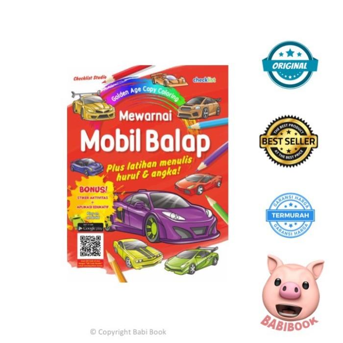 Jual Promo Buku Anak Mewarnai Mobil Balap Golden Age Copy