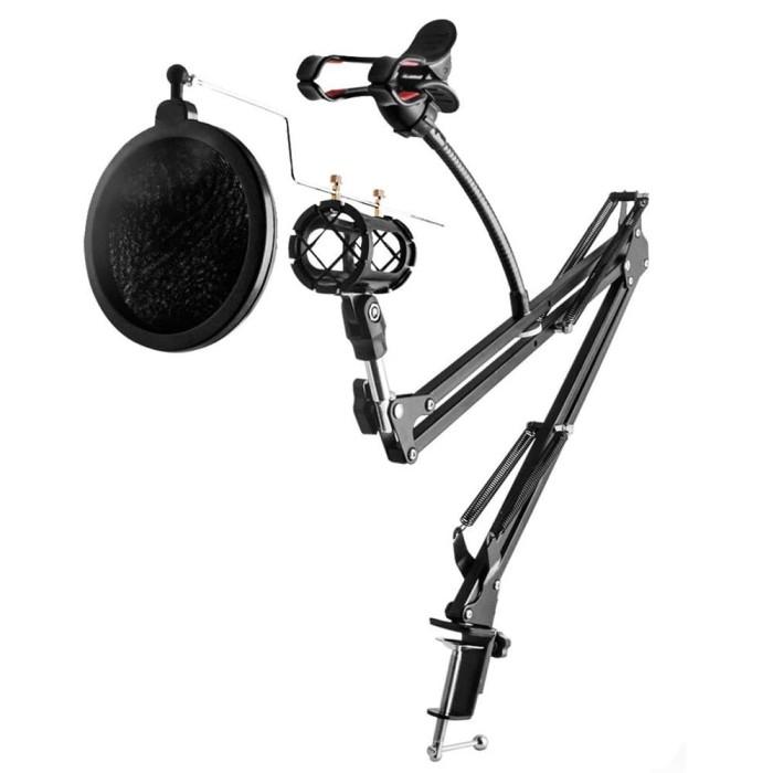harga Condenser microphone stand holder 360 lazypod clamp professional Tokopedia.com