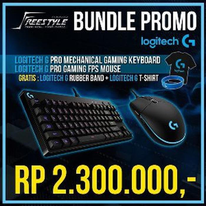 Jual Logitech G Pro GPro Keyboard Mouse Bundle Free T-Shirt&Rubberband -  OLAP | Tokopedia