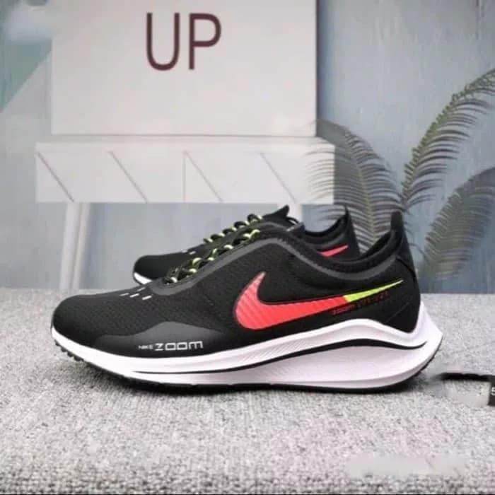 9277e6cfd3d6 Jual sepatu sneakers casual running nike zoom EXP-Z07 black red men ...