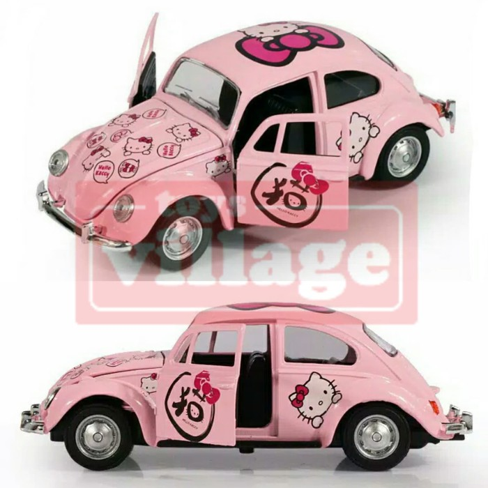 Diecast VW Beetle Hello Kitty - Mobil Koleksi Mainan Anak Perempuan