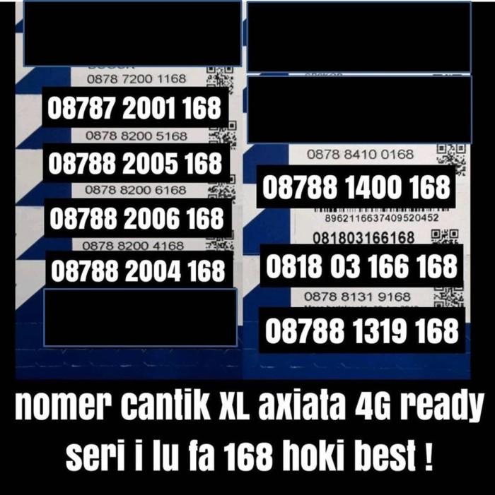 harga Nomer cantik xl 4g plus kartu perdana spesial nomor hoki i lu fa 168 Tokopedia