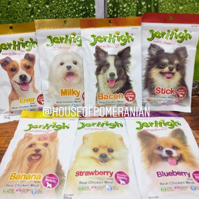 Foto Produk jerhigh snack anjing makanan cemilan dog puppy food jer high stick dari House Of Pomeranian