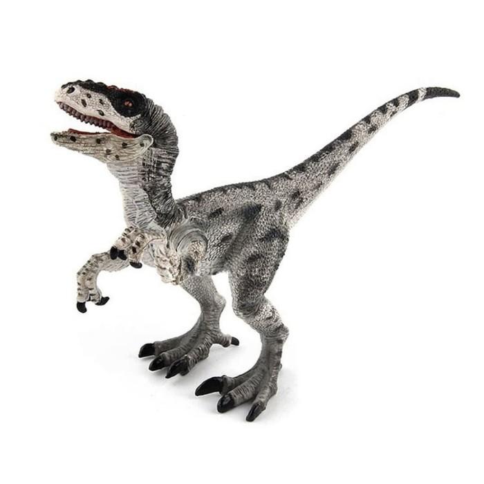 Foto Produk Velociraptor Silver Figure Dinosaurus Model Simulasi Dino dari Grandia Shop