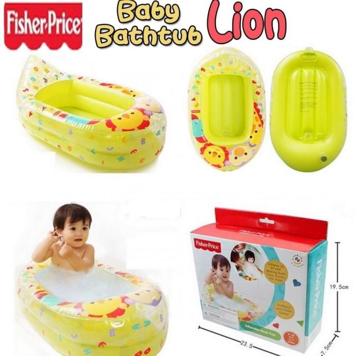 Foto Produk bak mandi bayi karet fisher price / baby bath tub portable balon dari BABYKU WHOLESALER