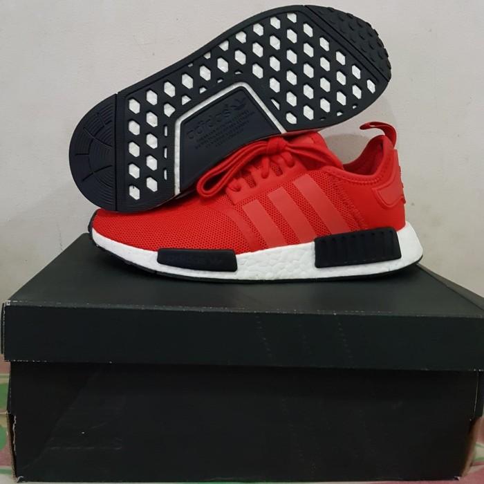 innovative design 8ccd1 ee49d Jual Adidas NMD R1 Red/Black (100% Authentic) - Kota Administrasi Jakarta  Barat - thentoys | Tokopedia
