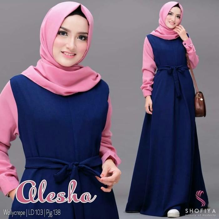 Gamis Terbaru Murah Berkualitas   Baju Muslim Wanita Dress Alesha Maxi 38a4d2b31c