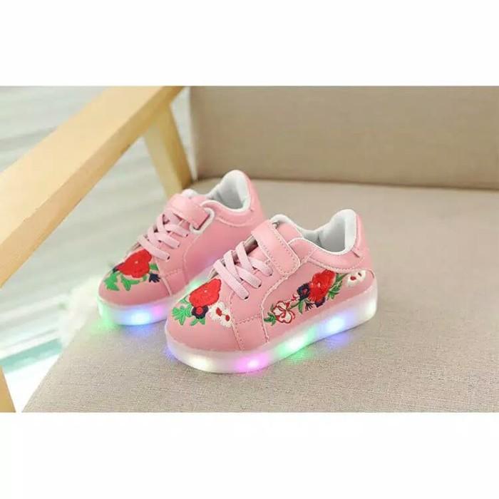 Harga Jual Sepatu Sakura Kets Casual Impor Anak Balita LED Sneaker ... 7fb6a05c60