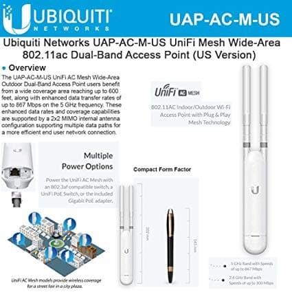 Ubiquiti UAP-AC-M-US Unifi Mesh Access Point