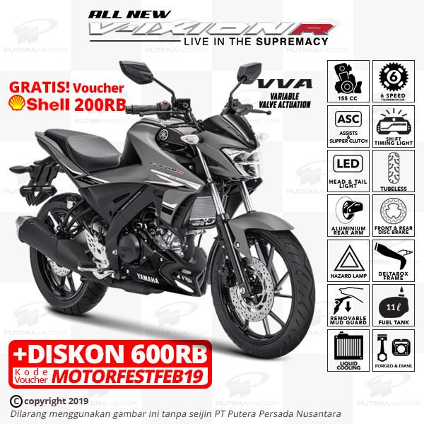 harga Yamaha all new vixion r - otr jkt & tgr - abu-abu Tokopedia.com