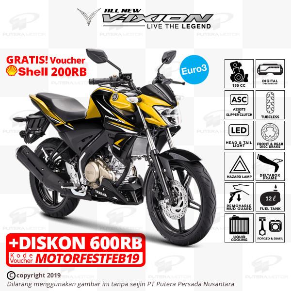 harga Yamaha all new vixion - otr bogor - kuning Tokopedia.com