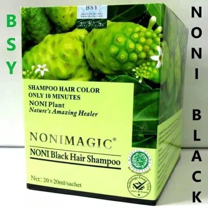 BSY NONI MAGIC Bsy Noni Black Hair Magic Shampo isi 20 sachet