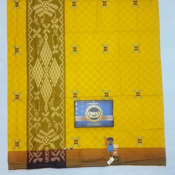 Foto Produk Sarung BHS clasic SKT DAM kuning gold dari zhafirawafa collection