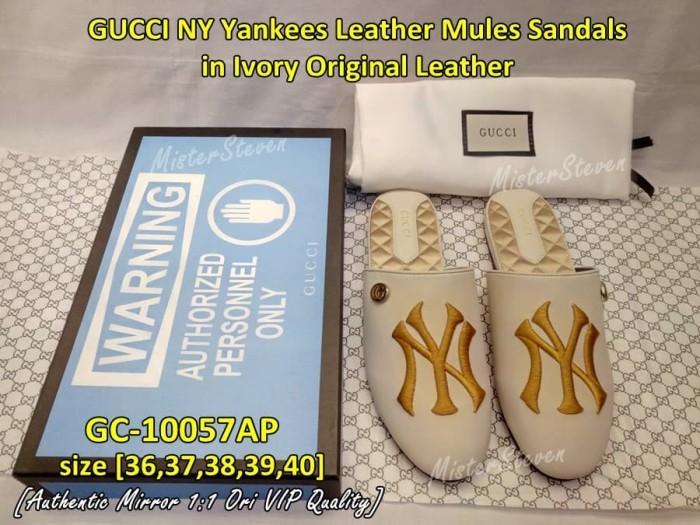 95ec35859f2 Jual Sendal Wanita Sandal Mules GUCCI NY Yankees Leather GC-10057AP ...