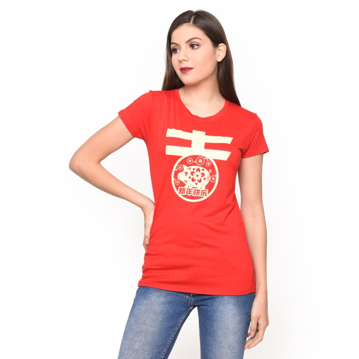 LEMONE Tshirt IMLEK Edition Rayon Spandek 10100145 Premium Merah M