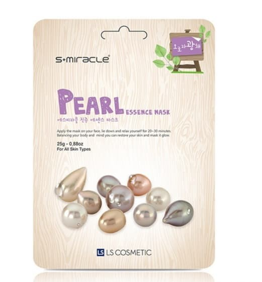 Foto Produk Masker Wajah Korea Pearl - S+miracle Pearl Essence Mask dari Smitra Cahaya