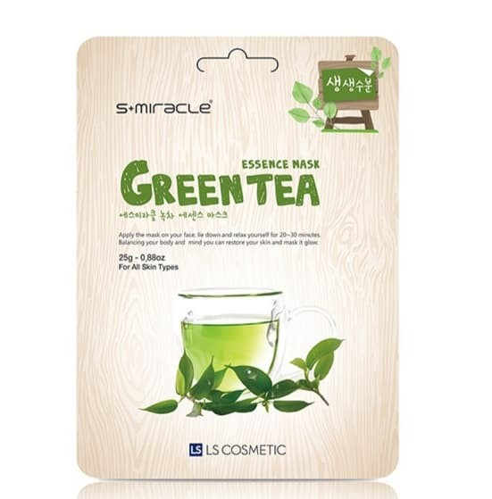 Foto Produk Masker Wajah Korea Green Tea - S+miracle Green Tea Essence Mask dari Smitra Cahaya