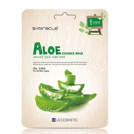 Foto Produk Masker Wajah Korea Aloe -S+miracle Aloe Essence Mask dari Smitra Cahaya