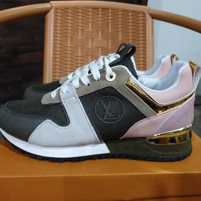 c0a8365d591 Jual Sepatu Sneakers Louis Vuitton Run Away Green Army Pink Gold Women -  Jakarta Selatan - ridoshop9 | Tokopedia