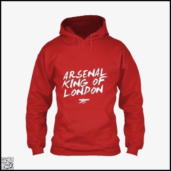 6c2afda9d Jaket ARSENAL - KING OF LONDON Hoodie All Size Big Size S M L XL XXL -  Merah, L