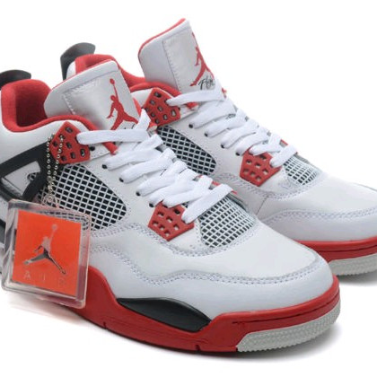 innovative design 58fc6 a4646 Nike Jordan Retro 4 White Red BNIB Like Original sepatu jordan retro - ,