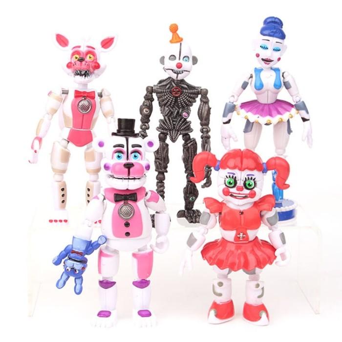5Pcs//lot FNAF Five Nights At Freddys Freddy toys Bonnie Foxy Fazbear Bear with L