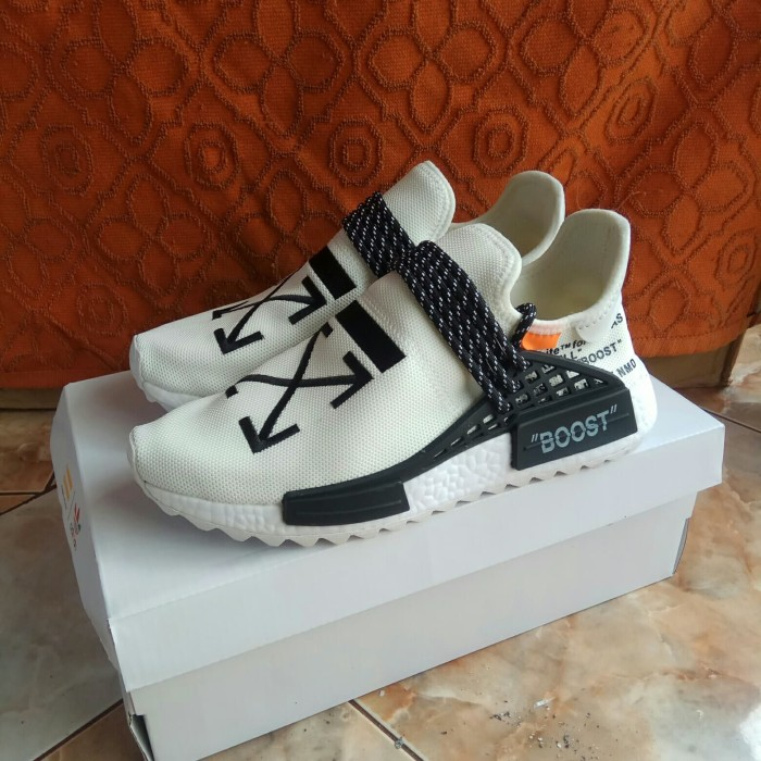 6645a107fec4b Jual Adidas NMD Human Race Pharrell x Off White Perfect Kick PK ...