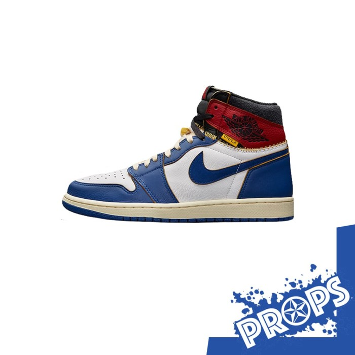 brand new 5a9b5 5a3e2 NIKE AIR JORDAN 1 RETRO HIGH UNION LOS ANGELES BLUE TOE