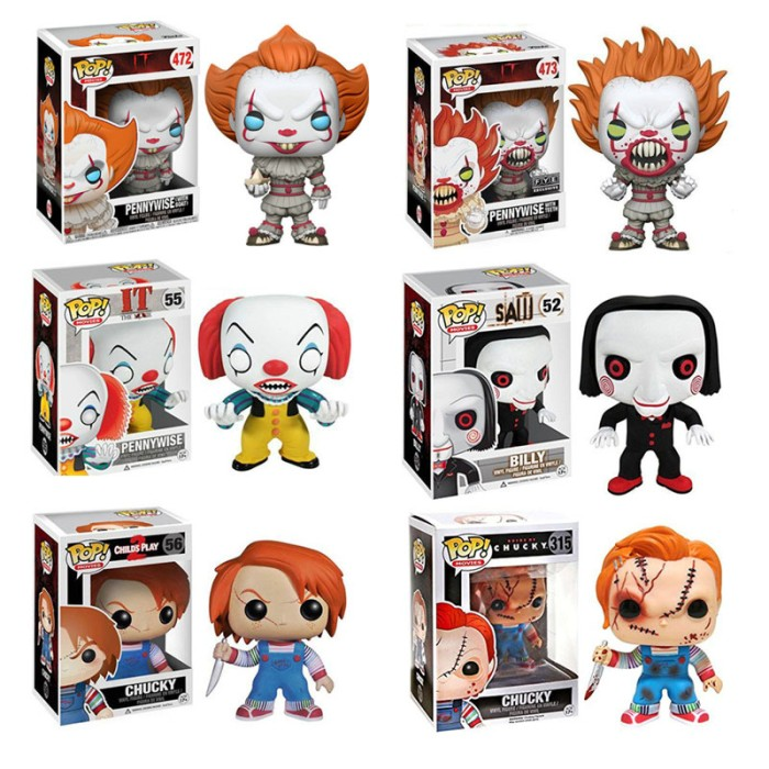 CHUCKY /& BILLY IT POP MOVIES Pennywise  Action Figure Funko POP 2019