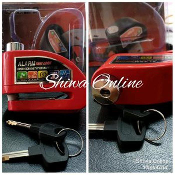 Gembok Alarm Disc Lock Cakram Motor - Pengaman Motor - Gem Berkualitas