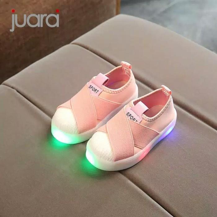 6b168d07444 Jual Murah Sepatu LED Anak Perempuan Sneaker Kets Anak Balita Impor ...