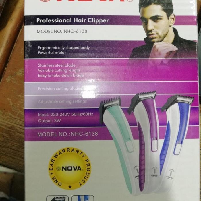 Nova Alat Cukur Kumis Rambut Jenggot Portabel Hair Trimmer Nhc 6138 ... eeeb66def3