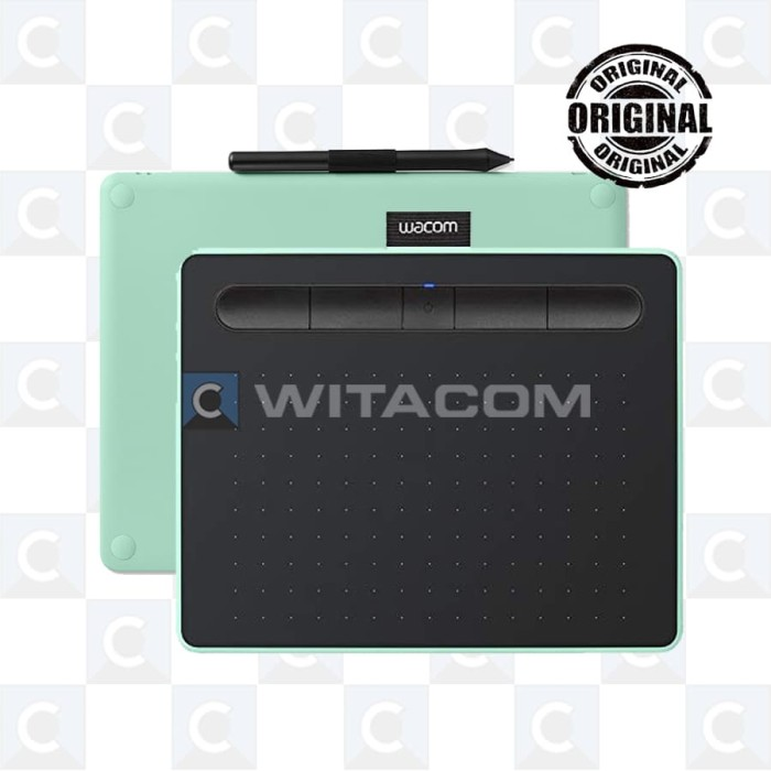 harga Wacom ctl-4100wl/e0-cx intuos pen bluetooth small green Tokopedia.com