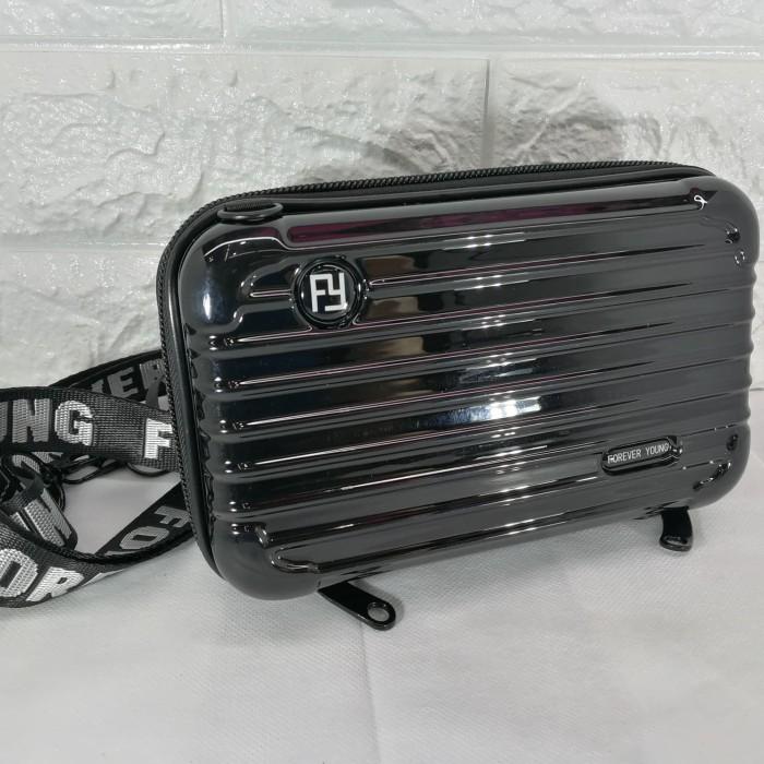 Foto Produk tas koper mini koper bag selempang forever young motif garis dari luckylin