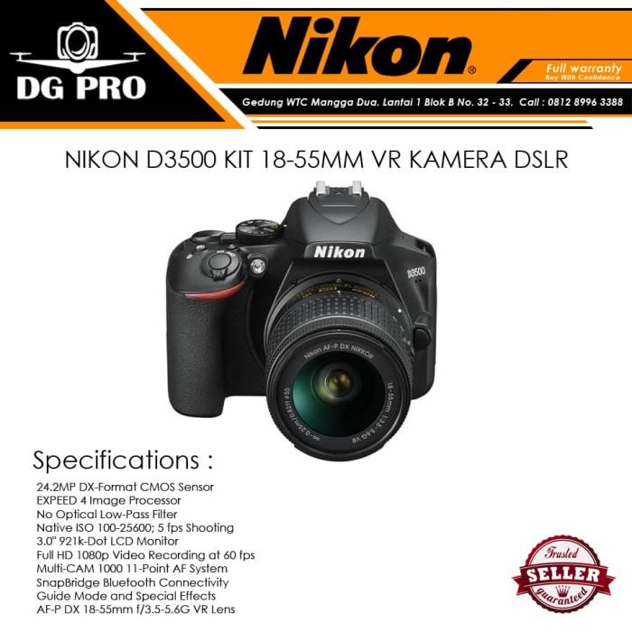 harga Nikon d3500 kit 18-55mm vr kamera dslr Tokopedia.com