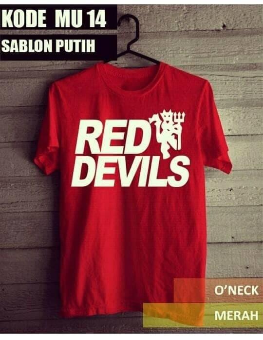 b00f0550a Jual T5283 KAos Tshirt Baju Combed 30S Distro MU Manchester United ...