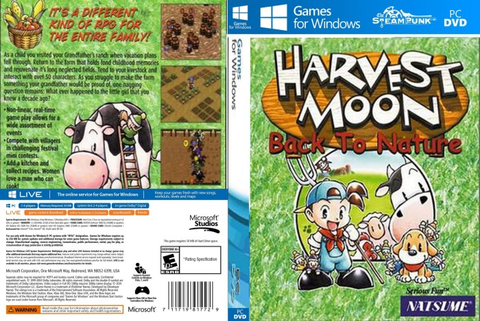 Foto Produk Harvest Moon back to nature Pc laptop dari SteamPunk
