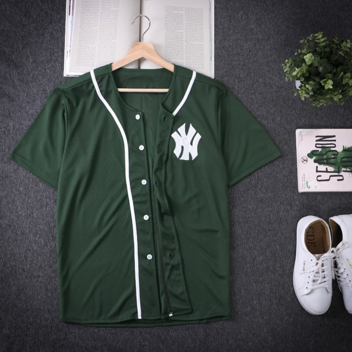 harga Baju baseball - jersey baseball ny hijau daun pria wanita Tokopedia.com