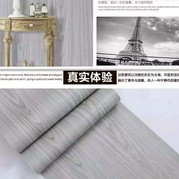 Foto Produk Wallpaper serat kayu grey 45 cm x 10 mtr    Wallpaper dinding dari dedengkot wallpaper