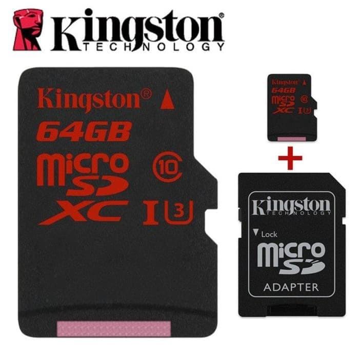 harga Kingston 64gb microsdhc class u3 uhs i 90ratau80w memory card sd adapt Tokopedia.com