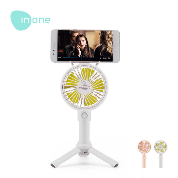 harga Inone kipas angin mini portable rechargeable with tripod awet garansi - merah muda Tokopedia.com